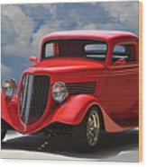 1934 Ford 'sherrys Cherry' Coupe Wood Print