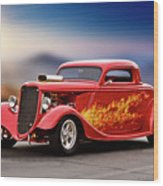 1934 Ford 'three Window' Coupe I Wood Print