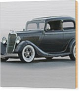 1934 Ford 'victoria' Coupe Wood Print