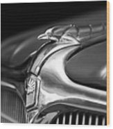 1934 Nash Ambassador 8 Hood Ornament 2 Wood Print