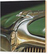 1934 Nash Ambassador 8 Hood Ornament Wood Print