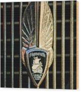 1934 Plymouth Emblem Wood Print