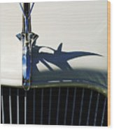 1934 Terraplane Coupe Hood Ornament Wood Print