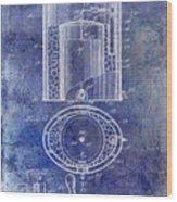 1935 Beer Equipment Patent Blue Wood Print