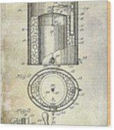 1935 Beer Equipment Patent  Wood Print