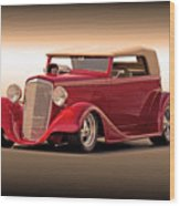 1935 Chevrolet Phaeton 3q Driver Side Wood Print