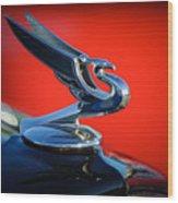 1935 Chevrolet Sedan Hood Ornament -0116c Wood Print