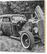 1935 Chevy Sedan Rat Rod Wood Print