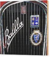 1935 Fiat Balilla Sport Spider Grille Wood Print