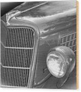 1935 Ford Sedan Grill Wood Print