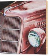 1935 Ford Sedan Hood Wood Print
