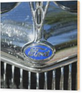 1935 Ford V8 Hood Ornament 2 Wood Print