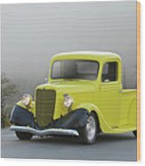 1935 Ford V8 Pickup Wood Print
