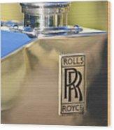 1935 Rolls-royce Phantom II Hood Ornament Wood Print