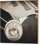 1936 Bugatti Type 57s Corsica Tourer Grille Emblem -1673s Wood Print