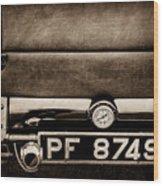 1936 Bugatti Type 57s Corsica Tourer License Plate -0067s Wood Print