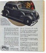 1936 Buick Century Classic Ad Wood Print