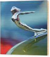 1936 Cadillac Hood Ornament 2 Wood Print