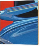 1936 Chevrolet Hood Ornament 2 Wood Print