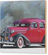 1936 Chevrolet Master Deluxe Sedan Wood Print