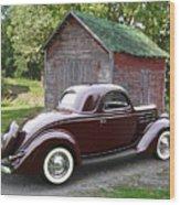 1936 Ford 3-window Wood Print