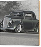 1936 Ford 'bug Crusher' Coupe Wood Print