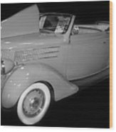 1936 Ford Rumble Seat Cabriolet  Wood Print
