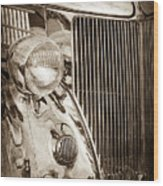 1936 Ford Stainless Steel Grille -0376s Wood Print