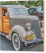 1936 Ford V8 Woody Station Wagon Wood Print