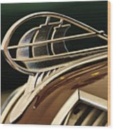 1936 Plymouth Sedan Hood Ornament Wood Print