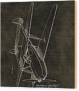 1936 Tandem Motored Biplane Wood Print