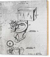 1936 Toilet Bowl Patent Antique Wood Print