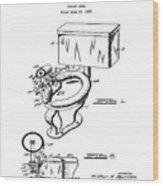 1936 Toilet Bowl Patent Wood Print