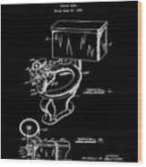 1936 Toilet Bowl Patent Black Wood Print