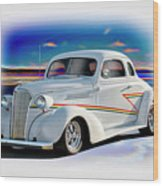 1937 Chevrolet Coupe 'accent Graphics' Wood Print