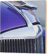 1937 Chevrolet Hood Ornament 2 Wood Print