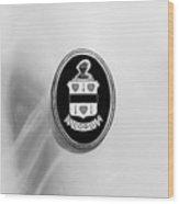 1937 Cord 812 Sc Phaeton Emblem -1203bw4 Wood Print