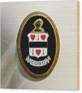 1937 Cord 812 Sc Phaeton Emblem -1203c2 Wood Print