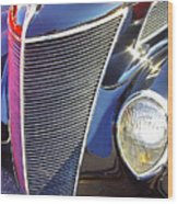 1937 Ford 2 Door Sedan Wood Print