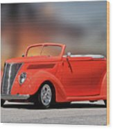 1937 Ford Cabriolet 'old School Vibe II Wood Print