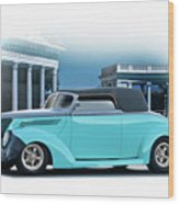 1937 Ford 'classic' Cabriolet Wood Print