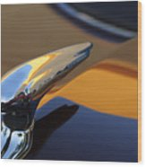 1937 Ford Hood Ornament 3 Wood Print