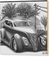 1937 Ford Sedan Wood Print by Peter Piatt