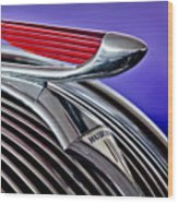 1937 Hudson Terraplane Sedan Hood Ornament 2 Wood Print