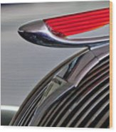 1937 Hudson Terraplane Sedan Hood Ornament Wood Print