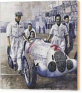 1937 Italian Gp Mercedes Benz W125 Rudolf Caracciola Wood Print