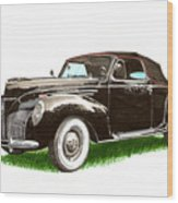 1937 Lincoln Zephyer Wood Print