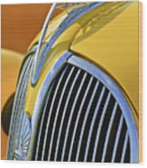 1937 Plymouth Hood Ornament 2 Wood Print