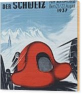 1937 Switzerland Grand Prix Racing Poster Wood Print