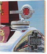 1938 American Lafrance Fire Truck Hood Ornament Wood Print